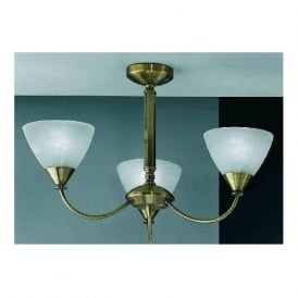 PE9663/786 Meridian 3 Light Ceiling Light Brushed Bronze