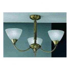 PE9663/786 Meridian 3 Light Ceiling Light Brushed Bronze