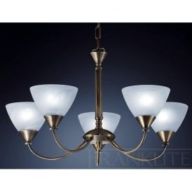 PE9665/786 Meridian 5 Light Ceiling Light Brushed Bronze