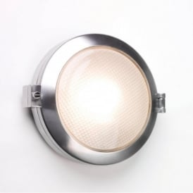 0325 Toronto Round 1 Light Outdoor Wall Light IP65 Polished Aluminium