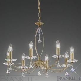FL2228/8 Monaco 8 Light Crystal Ceiling Light Bronze