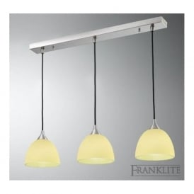 FL2290/3/940 Vetross 3 Light Ceiling Pendant White/Lime