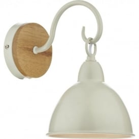 BLY0743 Blyton 1 Light Wall Light Wooden/Cream