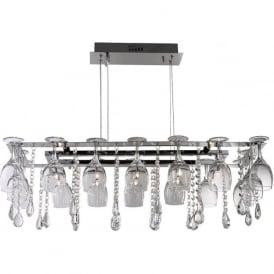 41510-10CC Vino 10 Light Ceiling Pendant Polished Chrome