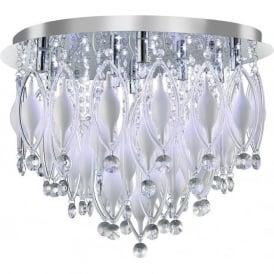 2459-9CC Spindle 9 Light Semi-flush Ceiling Light Polished Chrome