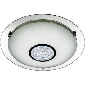 2773-41 LED Flush 1 Light Ceiling Light Polished Chrome