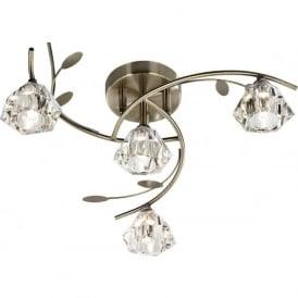 2634-4AB Sierra 4 Light Ceiling Light Antique Brass