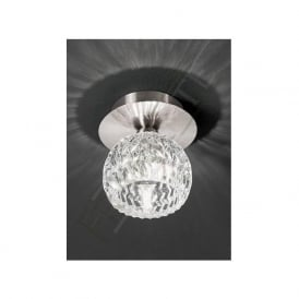 CF5728 Tierney 1 Light Ceiling Light Satin Nickel