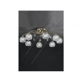 FL2296/8 Jura 8 Light Ceiling Light Bronze