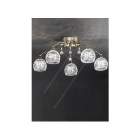 FL2296/5 Jura 5 Light Ceiling Light Bronze