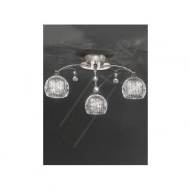 FL2295/3 Jura 3 Light Ceiling Light Satin Nickel