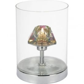 DEC4108 Decade 1 Light Touch Table Lamp Polished Chrome