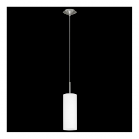 85977 Troy3 1 light Pendant Satin Nickel