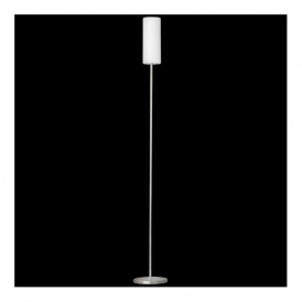 85982 Troy3 1 Light Floor Lamp Satin Nickel