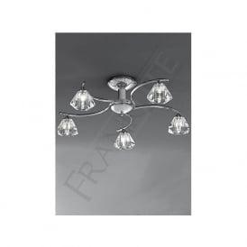 FL2162/5 Twista 5 Light Crystal Ceiling Light Polished Chrome