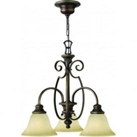 Lighting Hinkley HK/CELLO3 Cello 3 Light Ceiling Light Antique Bronze
