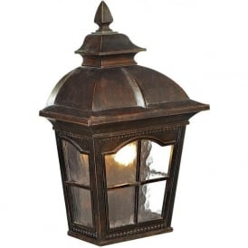 1576BR Pompeii 1 Light Outdoor Wall Light Brown Stone IP44