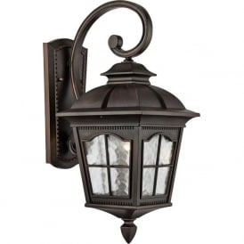 1573BR Pompeii 1 Light Outdoor Wall Light Brown Stone IP44