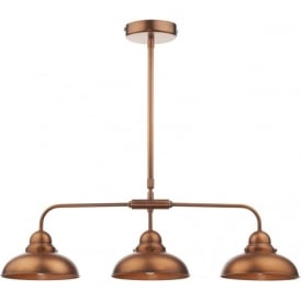 DYN0364 Dynamo 3 Light Ceiling Light Antique Copper