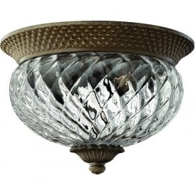 Lighting Hinkley HK/PLANT/F/S-PZ Plantation 2 Light Ceiling Light Pearl Bronze