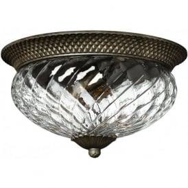 Lighting Hinkley HK/PLANT/F/L-PZ Plantation 3 Light Ceiling Light Pearl Bronze