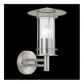 30184 Lisio 1 Light Outdoor Wall Light Stainless Steel IP44