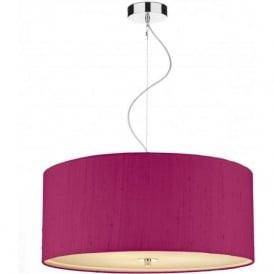 REN1003 Renoir 3 Light Small Ceiling Pendant Hot Pink