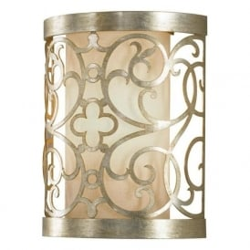 Lighting Feiss FE/ARABESQUE1 Arabesque 1 Light Wall Light Silver Leaf Patina