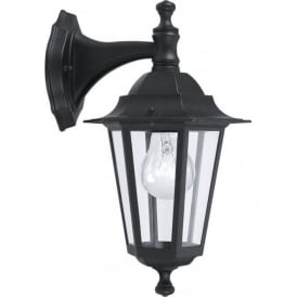 22467 Laterna4 1 Light Outdoor Wall Light Black IP33