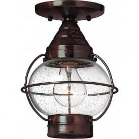 Lighting Hinkley HK/CAPECOD8/S Cape Cod 1 Light Outdoor Ceiling Light Bronze