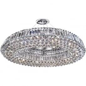 9291CC Safia 10 Light Crystal Ceiling Light Polished Chrome