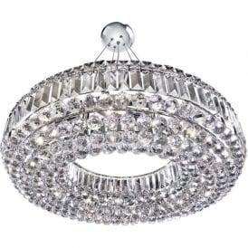 9392CC Safia 10 Light Crystal Ceiling Light Polished Chrome
