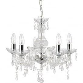 1455-5CL Marie Therese 5 Light Chandelier Polished Chrome
