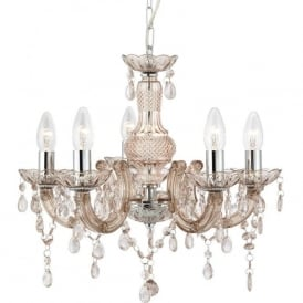 1455-5MI Marie Therese 5 Light Chandelier Polished Chrome