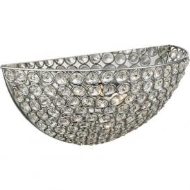 6161CC Chantilly Crystal 1 Light Wall Light Polished Chrome