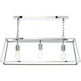 ACA0344 Academy 3 Light Ceiling Pendant Stainless Steel