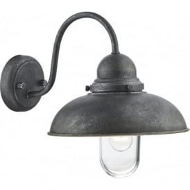 DYN0737 Dynamo 1 Light Outdoor Wall Light Aluminium