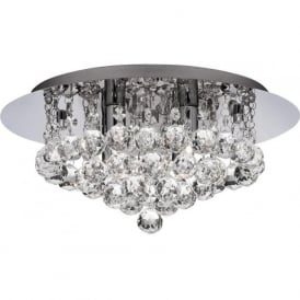 4404-4CC-LED Hanna 4 Light Bathroom Semi-Flush Light Chrome IP44 Cool White LED