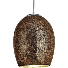 8069BZ Crackle 1 Light Ceiling Pendant Bronze