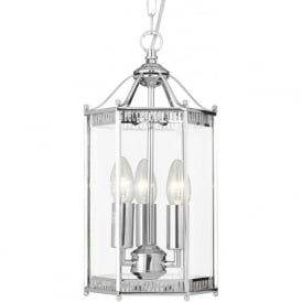 2273CC Lanterns 3 Light Ceiling Pendant Polished Chrome