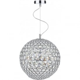 FIE0850 Fiesta 8 Light Crystal Pendant Polished Chrome