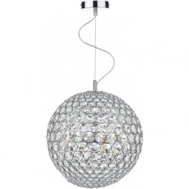 FIE1250 Fiesta 12 Light Crystal Pendant Polished Chrome