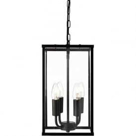 4244BK 4 Light Lantern Black