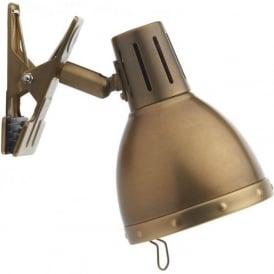 OSA4175 Osaka 1 Light Clip Lamp Natural Brass