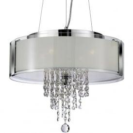 7824-4CC Pendants 4 Light Crystal Ceiling Pendant Polished Chrome