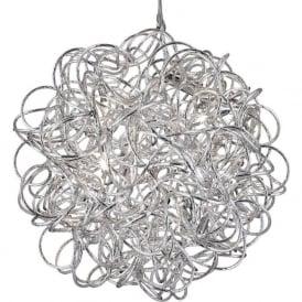 9432 Scribble 6 Light Ceiling Pendant Polished Chrome