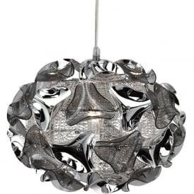 5801-1SM Triangle 1 Light Ceiling Pendant Polished Chrome