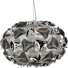 5803-3SM Triangle 3 Light Ceiling Pendant Polished Chrome