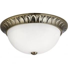 4149-38AB 3 Light Flush Ceiling Light Antique Brass
