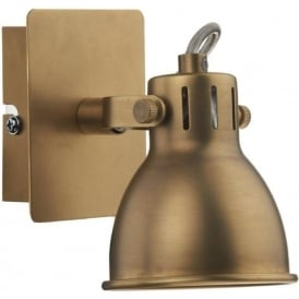 IDA0775 Idaho 1 Light Switched Wall Spotlight Natural Brass